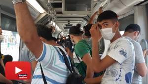 Metrobüslerde dikkat çeken yoğunluk