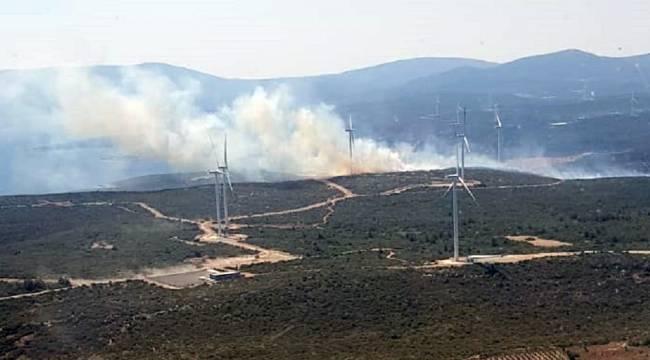 Seferihisar'da çıkan orman yangını kısmen kontrol altında