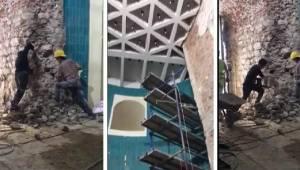 Vakıflar Genel Müdürü Ersoy: Galata Kulesi'nde tarihi yapıya değil, çimento harçla örülen bölüme müdahale edildi