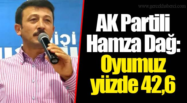 AK Partili Hamza Dağ: Oyumuz yüzde 42,6