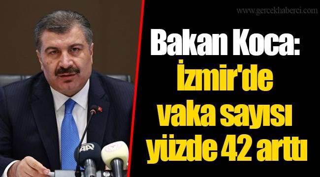 Bakan Koca: İzmir'de vaka sayısı yüzde 42 arttı