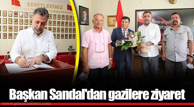 Başkan Sandal'dan gazilere ziyaret