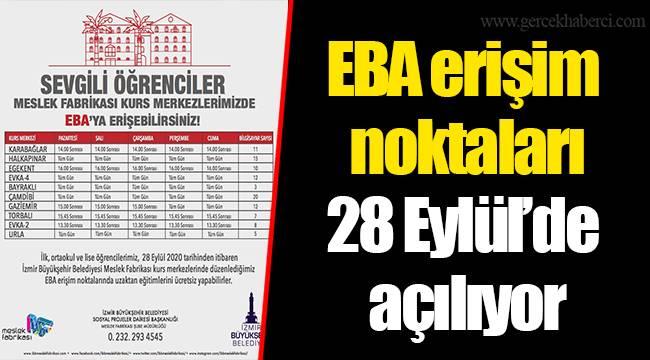 EBA erişim noktaları 28 Eylül'de açılıyor