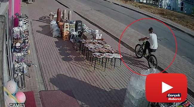 endi bisikletini bırakıp başka bisikleti çaldı linç edilmekten polis kurtardı
