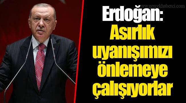 Erdoğan: Asırlık uyanışımızı önlemeye çalışıyorlarCumhurbaşkanı ve AKP Genel Başkanı Recep Tayyip Erdoğan, Kuzey Marmara Otoyolu'nun açılışında konuşuyor.