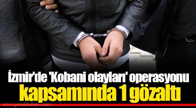 İzmir'de 'Kobani olayları' operasyonu kapsamında 1 gözaltı
