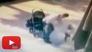 Küçük çocuğuna şiddet uygulayan baba gözaltına alındı