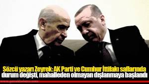 Sözcü yazarı Zeyrek: AK Parti ve Cumhur İttifakı saflarında durum değişti, mahalleden olmayan dışlanmaya başlandı