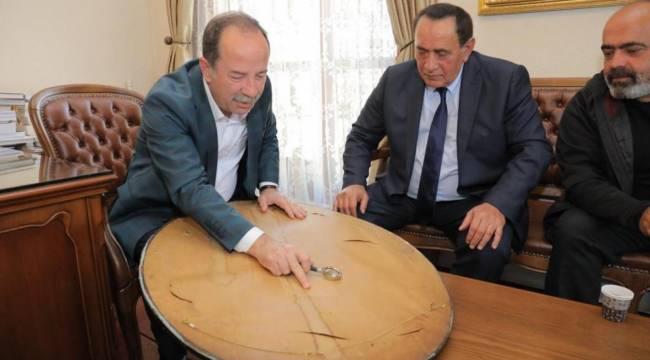Alaattin Çakıcı, CHP'li Edirne Belediye Başkanı Gürkan'ı makamında ziyaret etti