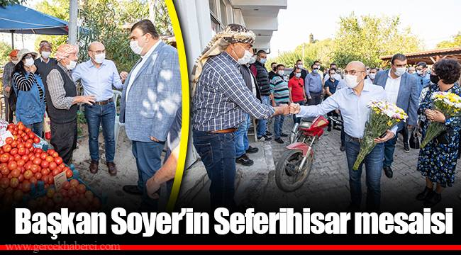 Başkan Soyer'in Seferihisar mesaisi