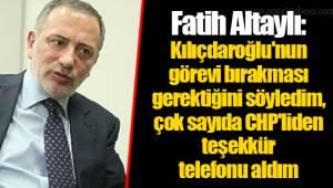 Fatih Altaylı: Kılıçdaroğlu'nun görevi bırakması gerektiğini söyledim, çok sayıda CHP'liden teşekkür telefonu aldım