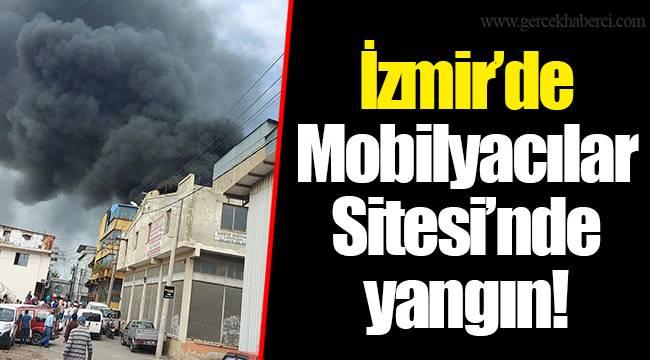 İzmir'de  Mobilyacılar Sitesi'nde yangın!
