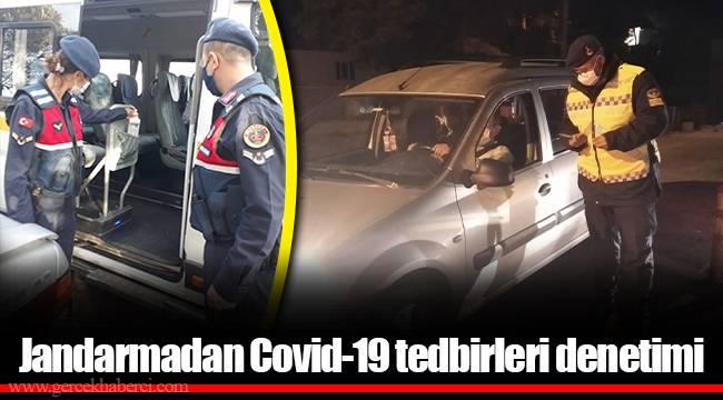 Jandarmadan Covid-19 tedbirleri denetimi
