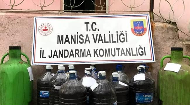 Manisa'da yaklaşık 20 ton sahte içki ele geçirildi
