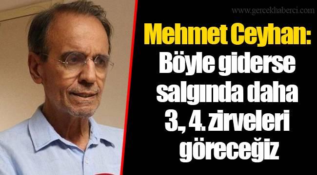Mehmet Ceyhan: Böyle giderse salgında daha 3., 4. zirveleri göreceğiz