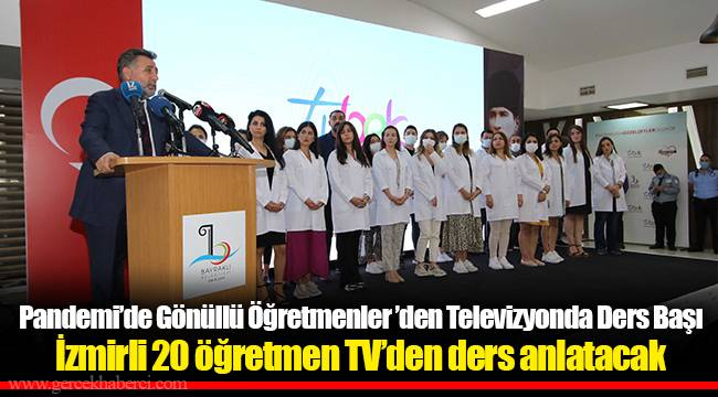 Pandemi'de Gönüllü Öğretmenler 'den Televizyonda Ders Başı