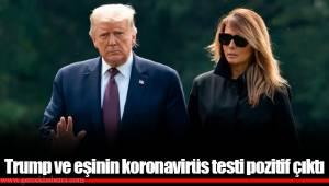 Trump ve eşinin koronavirüs testi pozitif çıktı