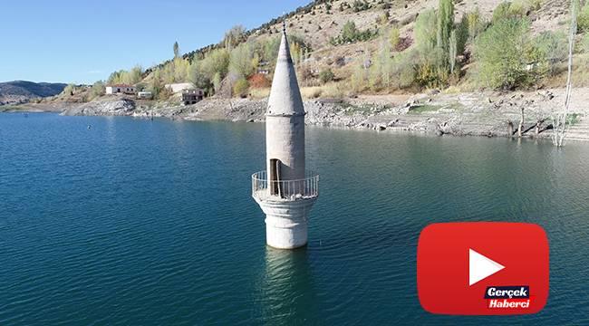 Yaşanan kuraklığı minareye bakıp ölçüyorlar