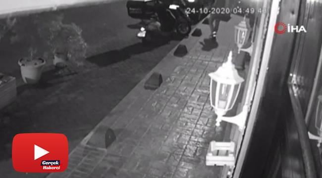20 saniyede gerçekleşen motosiklet hırsızlığı kamerada