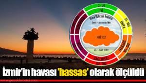 İzmir'in havası 'hassas' olarak ölçüldü