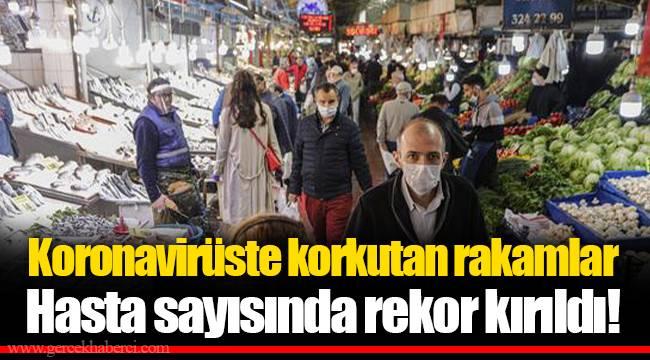 Koronavirüste korkutan rakamlar Hasta sayısında rekor kırıldı... Türkiye'de hasta sayısı ve  ölüm sayısında rekor kırıldı!