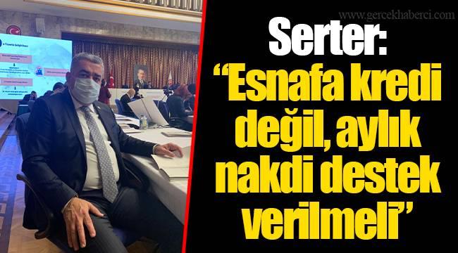"""Serter: """"Esnafa kredi değil, aylık nakdi destek verilmeli"""""""