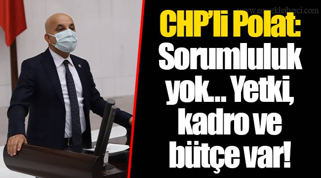 CHP'li Polat: Sorumluluk yok… Yetki, kadro ve bütçe var!