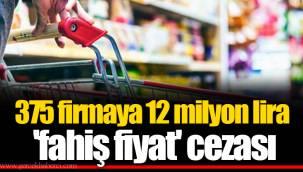 375 firmaya 12 milyon lira 'fahiş fiyat' cezası