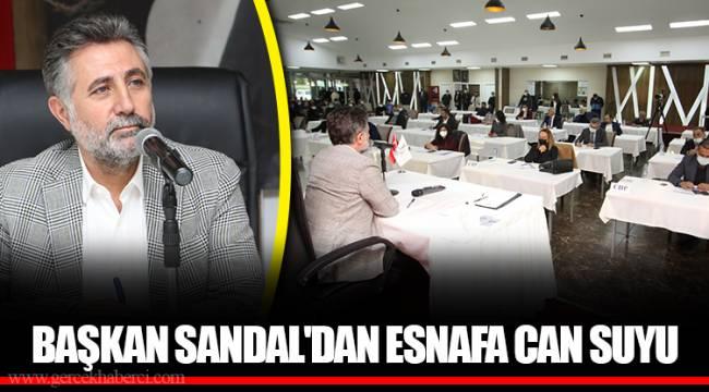 BAŞKAN SANDAL'DAN ESNAFA CAN SUYU