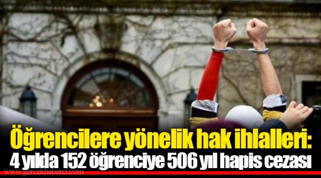 Öğrencilere yönelik hak ihlalleri: 4 yılda 152 öğrenciye 506 yıl hapis cezası