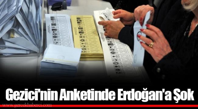 Gezici'nin Anketinde Erdoğan'a Şok