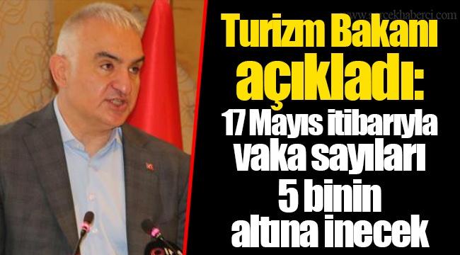 Turizm Bakanı açıkladı: 17 Mayıs itibarıyla vaka sayıları 5 binin altına inecek