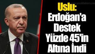 Uslu: Erdoğan'a Destek Yüzde 45'in Altına İndi