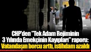 """CHP'den """"Tek Adam Rejiminin 3 Yılında Emekçinin Kayıpları"""" raporu: Vatandaşın borcu arttı, istihdam azaldı"""