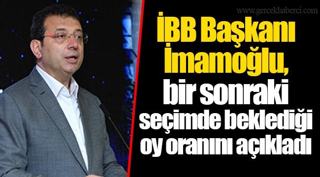 İBB Başkanı Ekrem İmamoğlu, bir sonraki seçimde beklediği oy oranını açıkladı