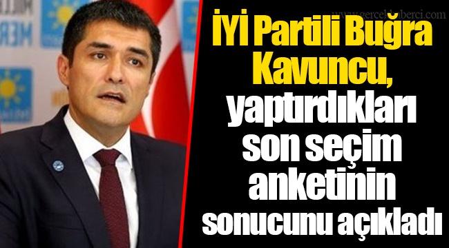 İYİ Partili Buğra Kavuncu, yaptırdıkları son seçim anketinin sonucunu açıkladı