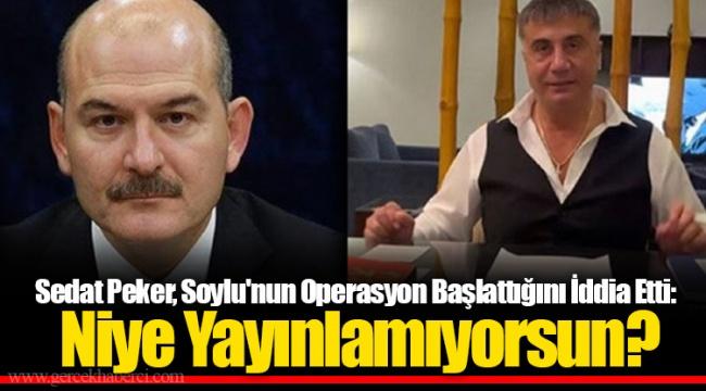 Sedat Peker, Soylu'nun Operasyon Başlattığını İddia Etti: Niye Yayınlamıyorsun?