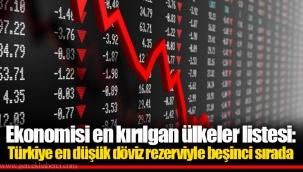 Ekonomisi en kırılgan ülkeler listesi: Türkiye en düşük döviz rezerviyle beşinci sırada