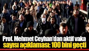 Prof. Mehmet Ceyhan'dan aktif vaka sayısı açıklaması: 100 bini geçti