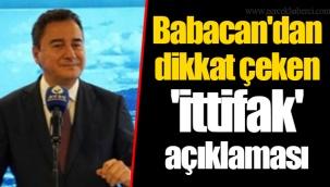 Babacan'dan dikkat çeken 'ittifak' açıklaması