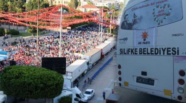 Erdoğan'ın mitingi dolmayınca AK Partili belediye harekete geçti: Belediye çalışanlarını alana getirdi!