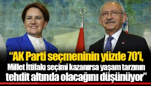 """""""AK Parti seçmeninin yüzde 70'i, Millet İttifakı seçimi kazanırsa yaşam tarzının tehdit altında olacağını düşünüyor"""""""