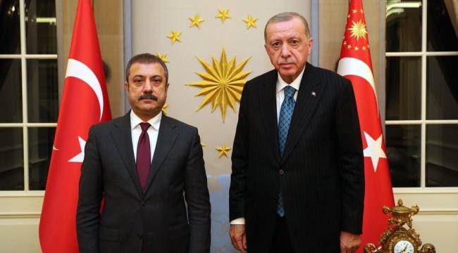 Cumhurbaşkanı Erdoğan, MB Başkanı Kavcıoğlu'nu kabul etti