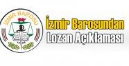 İzmir Barosundan Lozan Anlaşması Açıklaması
