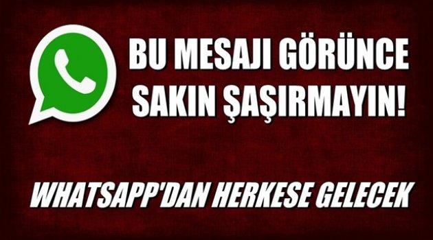 Whatsapp'dan gelen bu mesajı görünce sakın şaşırmayın!